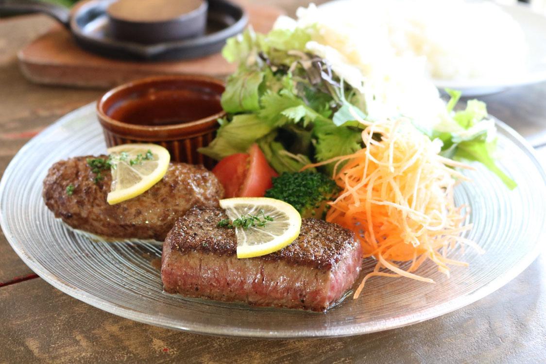 常陸牛レアレアハンバーグ&ステーキセット