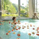 秋のぜいたく りんご風呂開始 日帰り温泉施設「森林の温泉」