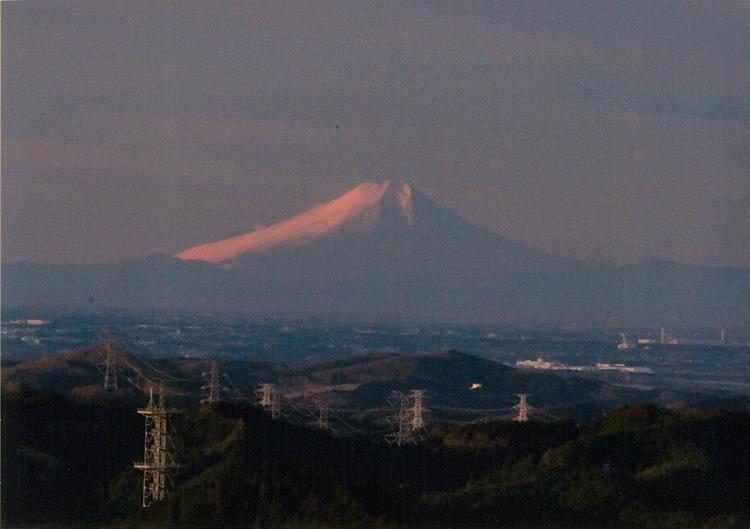 撮影した富士山