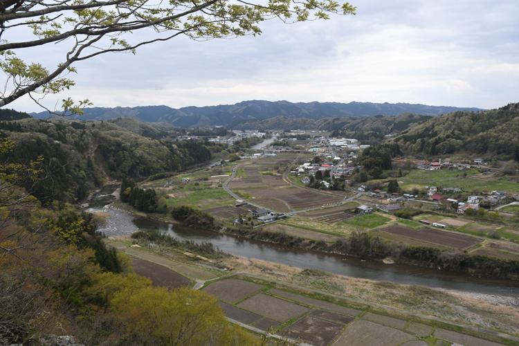 久慈川と田園風景