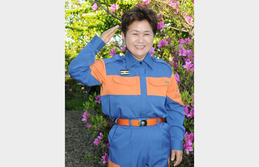 玄関の靴から、防災を 行方市消防団女性部長・海老沢文江さん