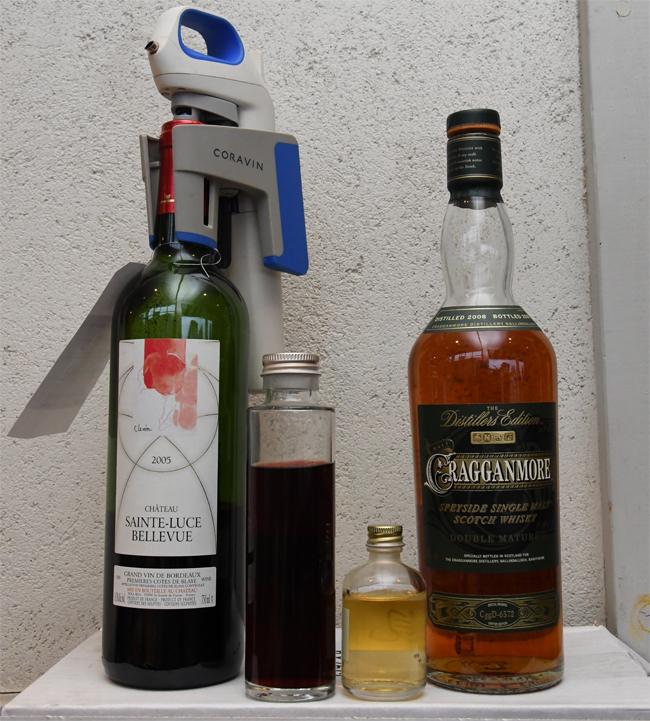 ワインとウイスキーのミニボトル