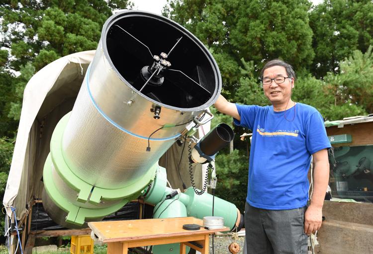 天体望遠鏡と、阿久津さん